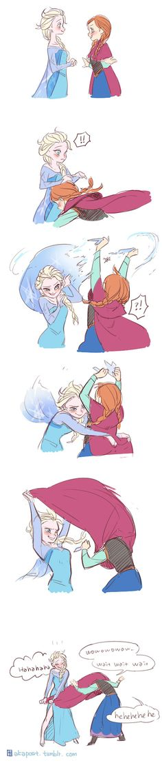 The incredibly immature exploits of Anna and Elsa... The Queen and Princess of Arendelle