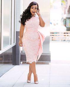 Life is Peachy — Kenia Nunez Designs African Lace Styles, African Lace Dresses, African Fashion Dresses, Nigerian Lace Dress, Dressy Dresses, Event Dresses, Dress Outfits, Lace Gown Styles, African Print Fashion