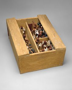 Model Bakery & Brewery From the Tomb of Meketre, Middle Kingdom, 12th Dynasty, reign of Amenemhat I, circa 1981-1975 BC, Thebes, Egypt -- The Metropolitan Museum of Art