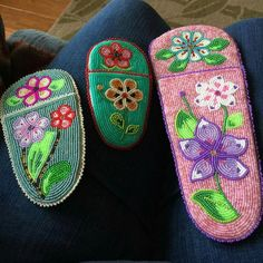 Athabascan beadwork by Madeline Krol scissor cases 2015