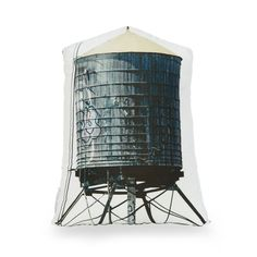 Handmade Water Tower Throw Pillow | dotandbo.com