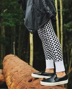 Hitting the trails in the Moto Leather Slip-On. Photography: @wheremyvansgo