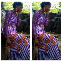 Purple Ankara ~Latest African fashion, Ankara, kitenge, African women dresses, African prints, African men's fashion, Nigerian style, Ghanaian fashion ~DKK