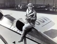 Aviatrix Ruth Alexander (b. 1905 - d. 1930) atop her Barling NB-3 (Reg. NR-880M) | Jodhpurs and riding boots again.