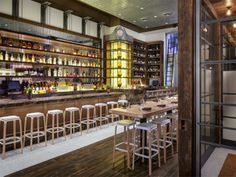 The beautiful bar at Cicchetti in Streeterville