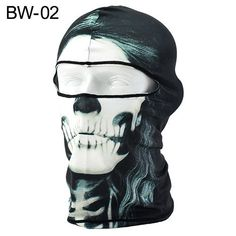 f7890fdab43 EG  3D Skull Printed Balaclava Motorcycle Neck Full Face Mask UV Protection  Pret