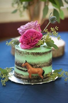 Lots of fun is about to begin because wild horses are galloping in, in this darling, Rustic Equestrian Horse Birthday Party at Kara's Party Ideas. Western Birthday Cakes, Western Cakes, Horse Birthday Parties, New Birthday Cake, Birthday Cakes For Women, Farm Birthday, Horse Party Decorations, Cowgirl Cakes, Mini Tortillas
