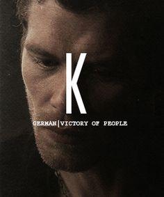 The Vampire Diaries: Names + Meanings  - the-vampire-diaries Fan Art /// Klaus =  Victory of people
