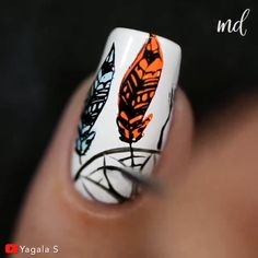 When it comes to manicure, go extra or go home! Diy Acrylic Nails, Diy Nails, Cute Nails, Pretty Nails, Nail Art Designs Videos, Nail Art Videos, Red Gel Nails, Nail Manicure, Nail Art Hacks