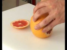 Technique de cuisine: Peler à vif un fruit