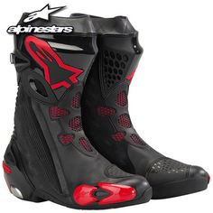 Alpinestars Supertech R Boots - Sport Bike Track Gear Bike Boots, Mens Motorcycle Boots, Moto Bike, Riding Gear, Riding Boots, Motocross Gear, Bike Equipment, Biker Gear, Adventure Gear