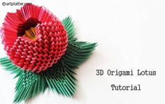 3D Origami Lotus - Instructions • Art Platter