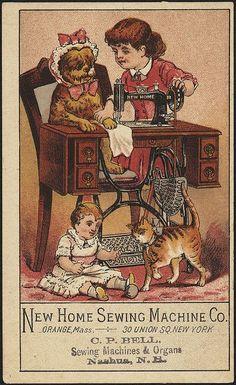 sewing machine ad