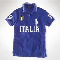 Slim Custom-Fit Italie Drapeau Polo BlueRalph Lauren courtes manches flag  polo, coupé pour bb6240eae916