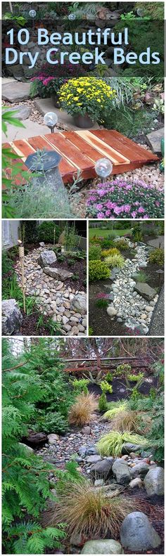 Dry creek beds outdoor living xeriscape ideas popular pin outdoor DIY yard and landscape landscaping hacks. Landscaping With Rocks, Outdoor Landscaping, Front Yard Landscaping, Backyard Landscaping, Outdoor Gardens, Landscaping Ideas, Dry Riverbed Landscaping, Landscaping Software, Landscape Design