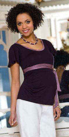 Ballerina Maternity Top (Purple) by Tiffany Rose