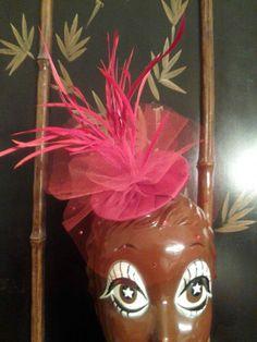 Red Delicious Fascinator Hat by BonenBonnetsOriginals on Etsy, $55.00