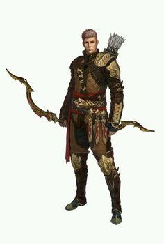 male human ranger bow arrows archer
