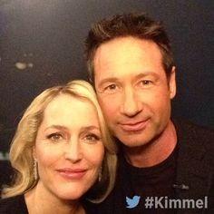 Gillian Anderson and David Duchovny #Kimmel #TheXFiles #XFilesRevival