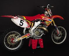 Mike LaRocco's 02 Factory Connection Amsoil Honda CR 250, sometimes i miss My CR 250 -02 such a great bike it was.