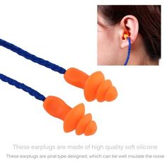 10 Pair Best Price Soft Silicone Corded Ear Plugs Reusable Hearing Preservation Noise Reduction Earplugs Protective Earmuffs Workplace Safety Supplies Ear Protector