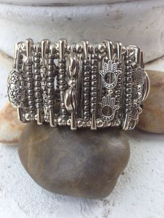 Safety Pin Cuff Bracelet .. by UniqueDesignsbyZee on Etsy, $25.00