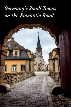 A drive through the small towns along the Romantic Road in Germany