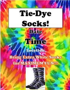 Resident Assistant – Let's Tie-Dye but I'd probably change to do white shirts