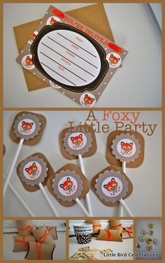 A Foxy Little Party Pre Made Party Kit available from…