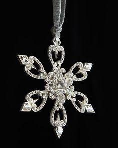 Orange HOWELL - Radiant Snowflake #Christmas Ornament #neimanmarcus #holiday2013 #madeinusa
