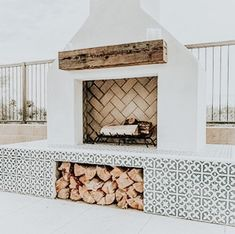 House Design, House, Home, House Inspiration, New Homes, Outdoor Fireplace, Weatherboard House, Home Interior Design, Home And Living