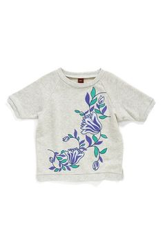 Tea+Collection+Embroidered+Cotton+Sweatshirt+(Baby+Girls)+available+at+#Nordstrom