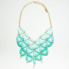 Cheap So Chic Layer Necklace Turquoise ($28) ❤ liked on Polyvore