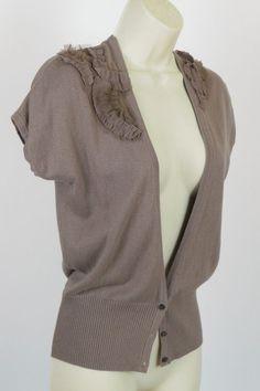 NEW GAP Cashmere Blend Short Sleeve VNeck Vest Sweater Cardigan Work Wear Top XS #GAP #Cardigan #Career