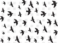 Flying birds silhouettes, 65362, Backgrounds, Textures, Abstract, download Royalty free vector clipart (eps)