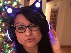 with purple cat headphones Aphmau Merch, Aphmau Characters, Aphmau And Aaron, Kawaii Chan, Aphmau Fan Art, Purple Cat, Playbuzz, Markiplier, Best Youtubers