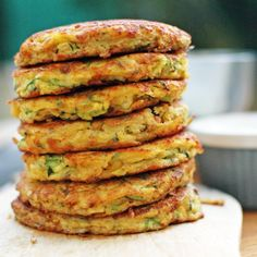 Zucchini and chickpea fritters Fritters made with chickpeas, grated zucchini, eggs and not much more. Shredded Zucchini Recipes, Veggie Recipes, Vegetarian Recipes, Healthy Recipes, Free Recipes, Kids Cooking Recipes, Healthy Cooking, Healthy Eating, Healthy Food