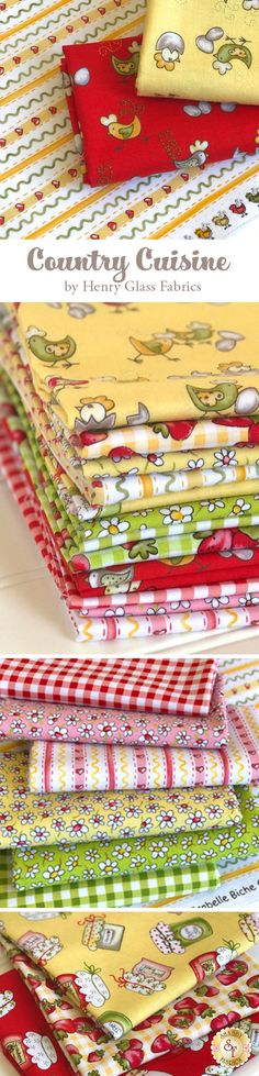 Country Cuisine by Isabelle Biche for Henry Glass Fabrics is a delightful collection available at Shabby Fabrics!