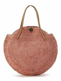 """New Cheap Bags. The location where building and construction meets style, beaded crochet is the act of using beads to decorate crocheted products. """"Crochet"""" is derived fro Crochet Handbags, Crochet Purses, Crochet Bags, Love Crochet, Knit Crochet, My Bags, Purses And Bags, Round Bag, Round Basket"""