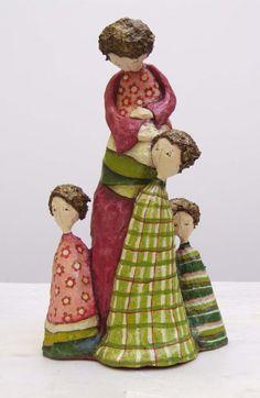 Paper mache sculptures - Delphine BLAIS