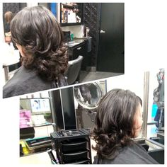 Cut and bouncy blow dry