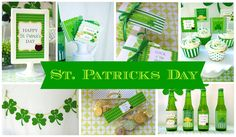 St Patricks Day Party Decorations - PRINTABLE - Party Package Collection - By A Blissful Nest - As Seen On Living Locurto. $12,50, via Etsy.