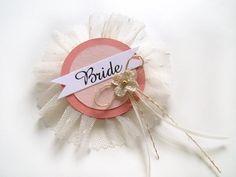 Bouquet della sposa sposa distintivo perni di addio al