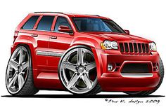 Jeep SRT drawings - JeepGarage.Org - We Are Jeep! Srt8 Jeep, Mopar, Jeep Grand Cherokee Srt, Cherokee Srt8, Jeep Wk, Jeep Garage, Cool Car Drawings, 4x4, Cool Vans