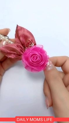 How to make Fancy flowers. flowers videos how to make Ribbon Flower Tutorial