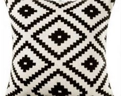 Pillow cover, Aztec Pillow Cover, Black and White throw pillow, Varies Size Cushion, Kilim Tribal Pillow Cover, Throw Pillow, Mexico Pillow