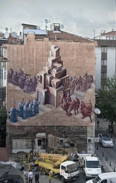 Polish artists Sepe and Chazme in Istanbul for the Common Experience Street Art Festival