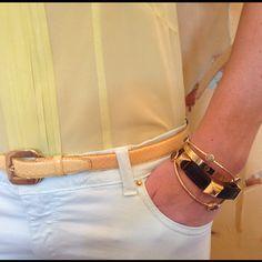 A little fun with #zara pastel pants & #armcandy, including my mother's #hermes & #cartier love #bracelets