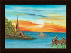 Always wanted a scenic beauty in your room? Own this landscape painting only at www.gloob.in, India's first online boutique in home decor.