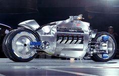 modern huge motorbike